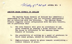 Agenda item no, 9, Council meeting of 7 October 1958.