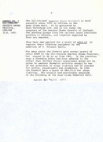 Agenda item #7, Council meeting of 4 April 1973