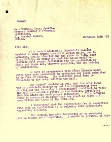 Letter from William O'Sullivan, Secretary, Arts Council  to J. O'Gorman, Buckley & O'Gorman Architects (page 1 of 2)
