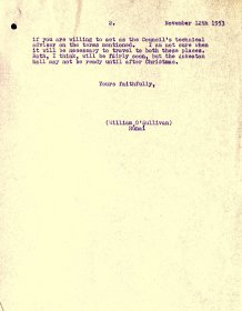 Letter from William O'Sullivan, Secretary, Arts Council  to J. O'Gorman, Buckley & O'Gorman Architects (page 2)