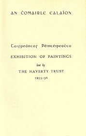 Programme: Exhibition of paintings lent by the Haverty Trust
