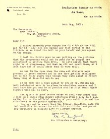 Letter from Meath Librarian M.K. McGurl to Arts Council