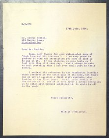 Letter from Dr William O'Sullivan, Secretary, Arts Council to Dr Thomas Bodkin