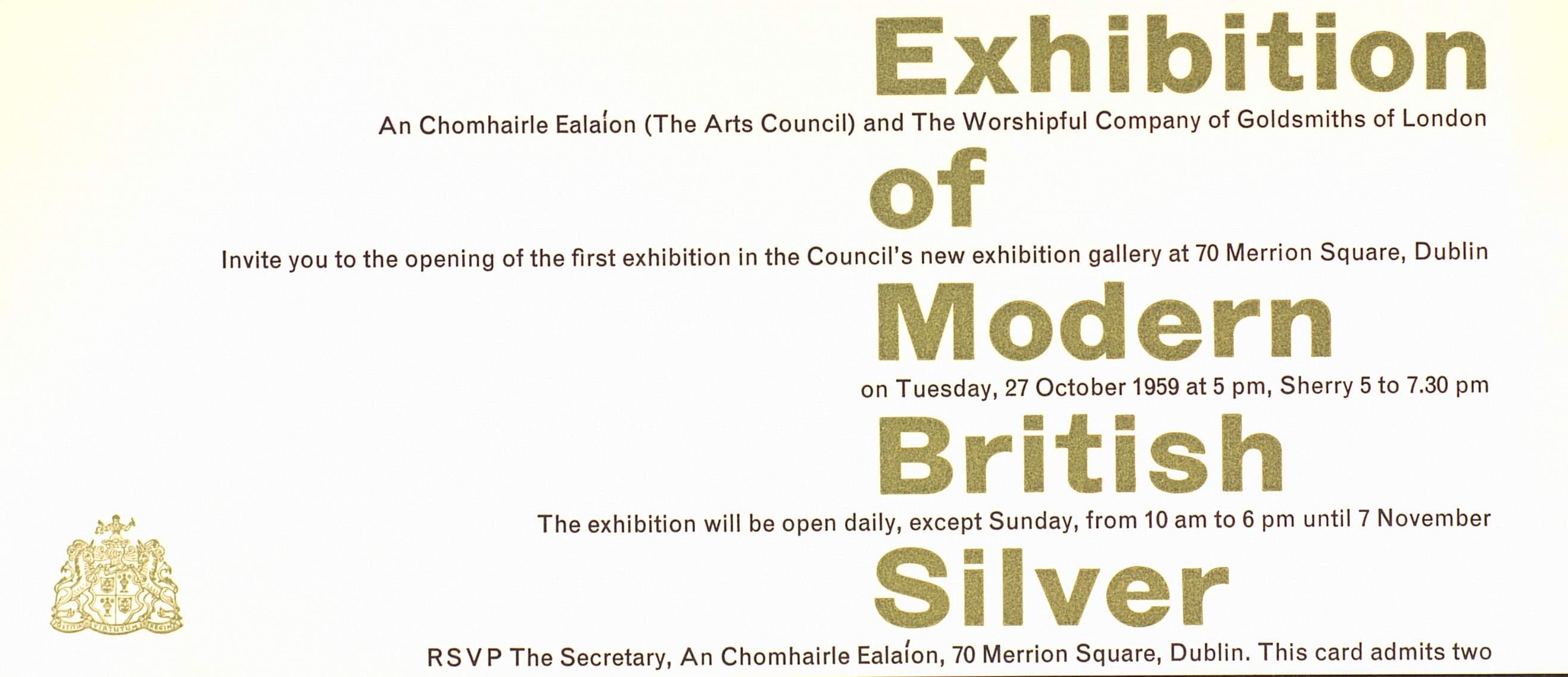 Sample Invitation Letter Art Exhibition. Invitation to Exhibition of Modern British Silver at Dublin A proper institute for the development arts  70 Merrion