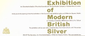 Invitation to Exhibition of Modern British Silver at Dublin