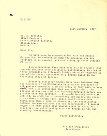 Letter from William O' Sullivan, Secretary, Arts Council to CIE