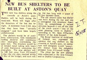 Press cutting - Irish Times - Bus shelters