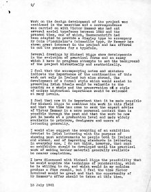 Description by Liam Miller of the project entitled 'The Development of an Irish Alphabet 1953-1961'. (Page 2)