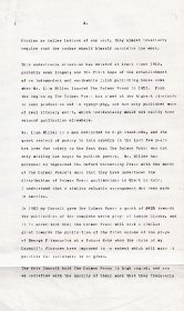 Draft letter from Mervyn Wall to Christopher Rye of the Calouste Gulbenkian Foundation. (Page 2 of 3)