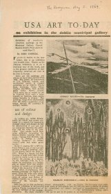 Kerryman article entitled, ' USA Art To-day', by Sara Conwell.  [Article reproduced courtesy of The Kerryman]