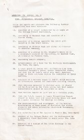 Addendum to Agenda No. 3, (Arts Council meeting of 31 December 1963) listing additional public suggestions for the John F. Kennedy Memorial.