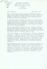 Letter from Raymond McGrath to Richie Ryan, Minister for Finance. [Letter is reproduced courtesy of the Office of Public Works] (Page 1 of 3)