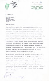 Letter from the Department of Finance to Colm Ó Briain, Director of the Arts Council.