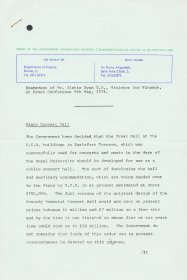 Statement of Mr Richie Ryan T.D., Minister for Finance, at Press Conference 9 May 1974, issued by the Government Information Services. (Page 1 of 4)