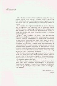 Graphic art exhibition guide - acknowledgments and Director's introduction