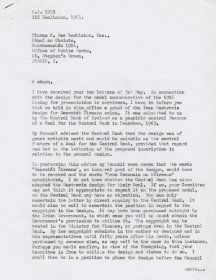 Letter from Mervyn Wall, Secretary of  the Arts Council to Piaras Mac Lochlainn. (Page 1 of 2)