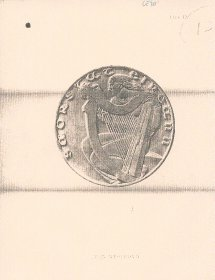 Copy of an image of the design by Ivan Mestrović for Saorstát / freestate coins