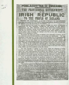 Brochure 'Cuimhneachán 1916. Comórtas Liteartha, Ceoil agus Ealaíon', outlining conditions and regulations for a series of competitions for works to commemorate the 1916 Rising. (Front cover / page 1 of 10)