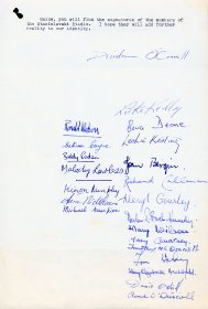 Letter from Deirdre O'Connell of the Focus Theatre signed by 21 additional members of the Focus Theatre,  to Mervyn Wall, Secretary of the Arts Council. (Page 2)