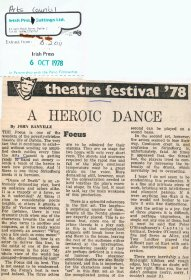 Review by John Banville (Irish Press) of Dance of Death by Strindberg produced by the Focus Theatre. Copyright courtesy of the Irish Press.