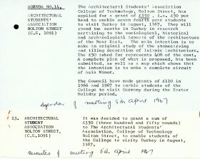 Arts Council Agenda points 13 and 14 for Council meeting 5 April 1967