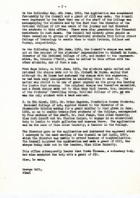 Letter from Mervyn Wall to the Secretary of the Department of the Taoiseach. (Page 2)