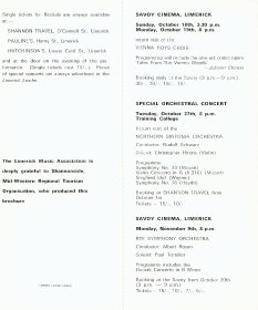 Programme for the Limerick Music Association Season 1970-1971.  (Page 4 of 5)