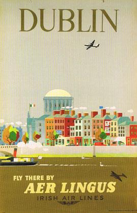 Aer Lingus poster, 1956
