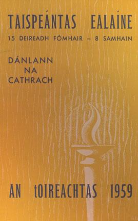Catalogue - An tOireachtas, 1959