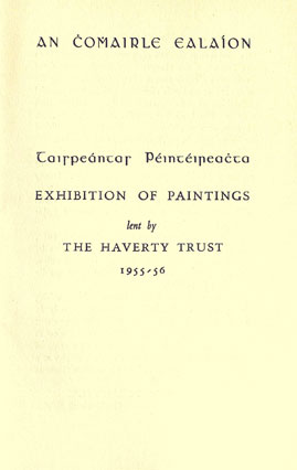 Haverty Trust exhibition cover