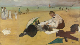 Sur la Plage (oil on canvas) - Edgar Degas, c. 1876/77, National Gallery London.