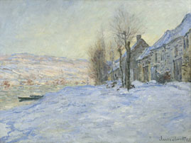 Vétheuil: Sunshine and Snow (oil on canvas) - Claude Monet c. 1878,  National Gallery, London.