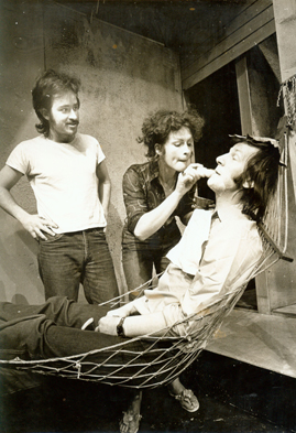 Ena May, Declan Bourke Kennedy and Tom Hickey from The Night of the Iguana by Tennessee Williams - Focus Theatre 1974 (Actors: Tom and Ena May, Director: Declan Bourke Kennedy.)