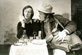 Tom Hickey and Joe Pilkington in Trespasser by Declan Bourke Kennedy - Focus Theatre 1973